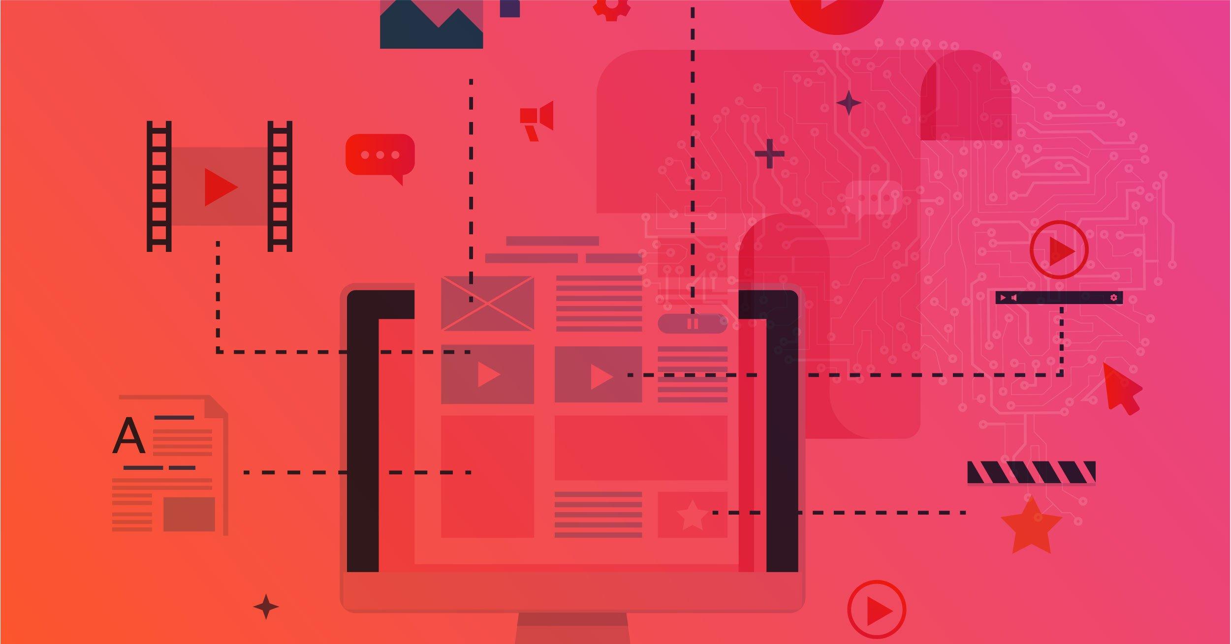 Ilustração dos processos e estratégias de Marketing de Conteúdo