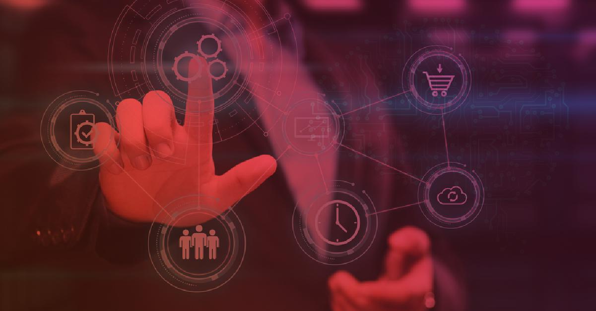 Símbolos de CRM e Automação de Marketing