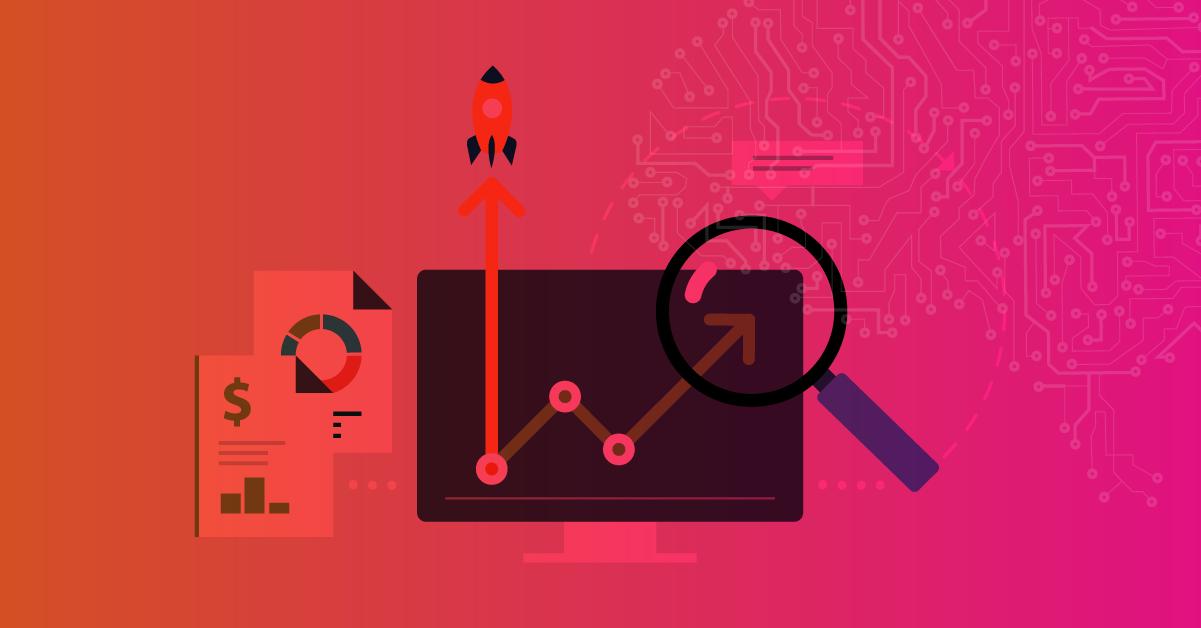 Imagem com símbolos em vetor, retratando métricas de Inbound Marketing