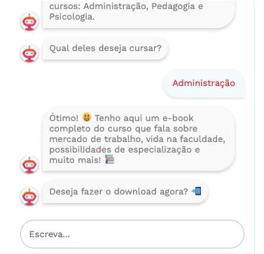 Chatbot para captação